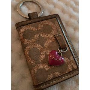 Coach photo holder - key chain